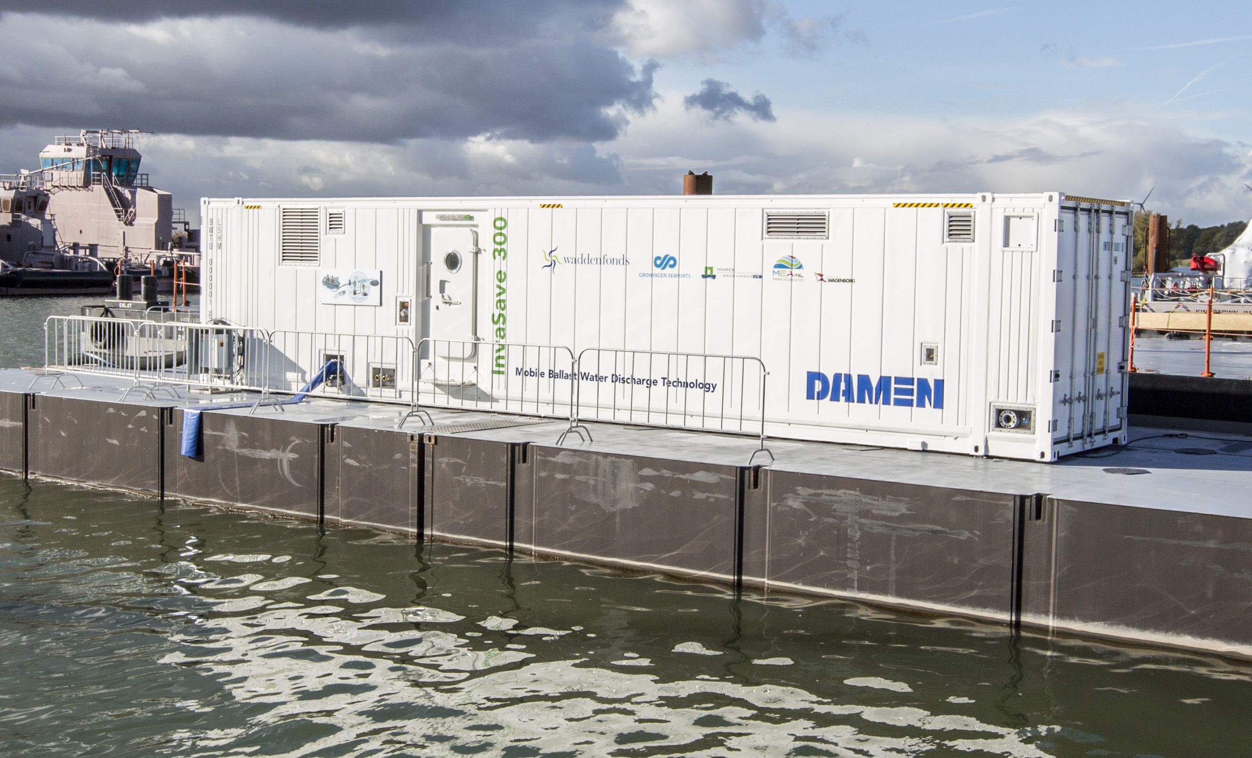 CLIMATE INVESTOR TWO JOINS DAMEN TO FIGHT INVASIVE SPECIES IN BALLAST WATER